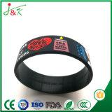 Silicone promocionais personalizadas Pulseira bracelete de borracha, Fullly Bangle personalizável