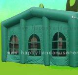 قابل للنفخ عملاق [غرين هووس] شكل خيمة لأنّ حادث تجاريّة