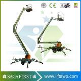 elevatore d'articolazione trainabile elettrico idraulico 16m dell'asta di 14m piccolo