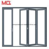 Fait dans la porte de pliage en aluminium en verre gâchée par Chine de pli