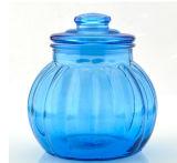 Grau alimentício 3PCS para armazenamento de alimentos em vidro colorido Copo com tampa de vidro