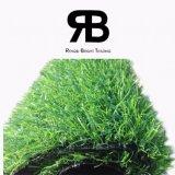 alfombra artificial sintetizada de la hierba de la decoración del paisaje de 20-35m m para el jardín y el hogar