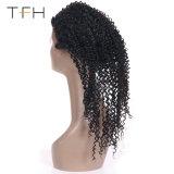 180% de densidade Kinky Curly 360 Lace Peruca Frontal com o cabelo do bebê pré Depenados Cabelo encaracolado Perucas para Mulheres Remy Hair Top Moda brasileira de cabelo humano