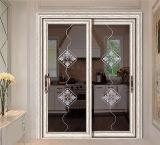 Innenaluminiumschiebetür mit ausgeglichenem lamelliertem Glas