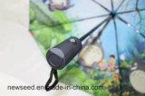 Parapluie pliable automatique pleine d'impression ouverte et fermée