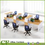 Poste de travail de bureau de personne du panneau cpc 6 de partition de tissu pour des commis