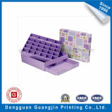 Boîte de empaquetage de modèle de couleur de papier à chocolat pourpré neuf de carton