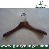 Cintre en bois de luxe de qualité d'étalage du vêtement des hommes