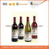 Подгонянный напечатанный конструкцией стикер бутылки вина логоса вина, печатание ярлыка