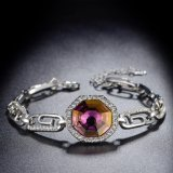 Vintage Occidental mayorista Pulsera hecha de cristal Austrial Antique joyas chapado en oro.