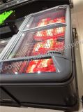 Congelador silencioso do console da porta de vidro de deslizamento com projeto de Europa