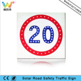 High Way Aluminium Affichage de limite de vitesse solaire Traffic Road Sign