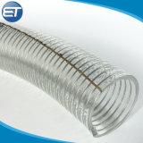 Tubo di plastica di rinforzo della tubazione del giardino della molla di acqua del tubo flessibile di aspirazione del filo di acciaio del PVC