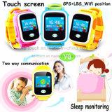 接触多彩なスクリーンY8が付いている熱い子供GPSの追跡者の腕時計
