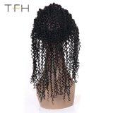 [بروفين] أجعد مجعّد [بر] ينتف 360 شريط أماميّ إغلاق خطّ شعريّ طبيعيّ مع طفلة شعر [هومن هير] طبيعيّ أسود