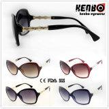 De nieuwe Plastic Zonnebril van de Manier van het Ontwerp met de Scharnier Kp50855 van Nice