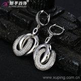 Xuping Rhodium überzogener Luxuxform-Ohrring (28438)