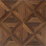 Plancher en bois bordé de stratifié ciré par teck en bois de texture de planche de vinyle de fibre de bois