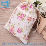 Cheap Fashion personnalisé Sac en coton Calico coulisse vin/petit sac avec lacet de serrage de coton/Sac avec lacet de serrage en mousseline de coton