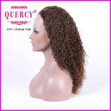 Peluca delantera humana brasileña del cordón de Remy el 130% de Brown de la densidad de calidad superior rizada del color con el pelo del bebé