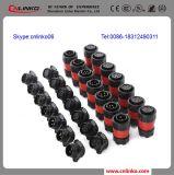 Tipos de cableado eléctrico de 3 pines del conector XLR hembra de soldadura conector de alimentación magnética