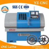 Máquina do torno do CNC do reparo da roda da liga de Awr da elevada precisão Wrc22