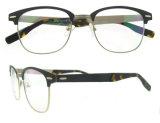 Bril van de Frames van de Glazen van vrouwen en van Mannen de Zwarte Ronde Roestvrije