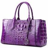 Leer van de Huid van de Krokodil van het Ontwerp van de Manier van de douane haalt het Purpere Echte Dame Handbag met Certificaat aan