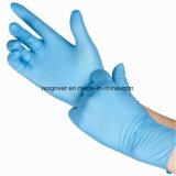 Высокое качество одноразовые нитриловые перчатки исследования с помощью синего цвета