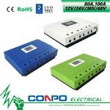 80A、100A 12V/24V/36V/48VのMPPTの太陽コントローラ