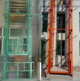 Plate-forme verticale de levage de marchandises de longeron de fil de contrôle multipoint à chaînes