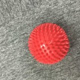 Masaje de PVC rojo bola Bola de masaje masaje corporal completo 7.5cm