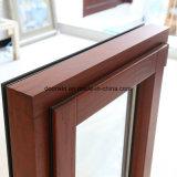 Incline e gire a janela de madeira de carvalho com revestimento de alumínio Exterior