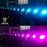 Tête mobile 12X12W de mini faisceau de la disco RGBW DEL d'étape UV