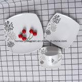異なった形の西部の顧客のデザイン磁器の食事用食器セット