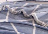 유행 백색 줄무늬 의무적인 Flannel 담요