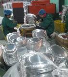 Plateau de papier d'aluminium de disposition d'utilisation de poulet