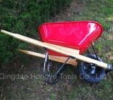 Bandeja de plástico do mercado americano Wheelbarrow Pega de madeira