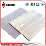 Painel Composto de alumínio com acabamento em madeira (AE-308)