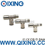 Tee Copper / Stainless Steel Metal Quick Connect Air Fittings