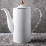 純粋な白いコーヒー鍋の水差しの磁器のコーヒー鍋の陶磁器のコーヒーティーポット