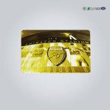微光の銀または金ぴかぴか光るPVCカード