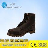 Высокая посадка из натуральной кожи коричневого цвета дешевая рабочая обувь