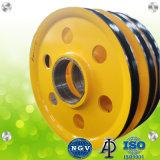 La fundición de OEM grandes ruedas de cable de la polea la polea grúa
