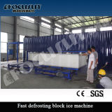 Projeto na máquina de gelo do bloco do recipiente
