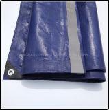 Reflètent la lumière bleu foncé la bâche de protection PE avec coin noir