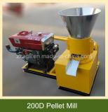 木製のおがくずのための200dディーゼル機関の餌の出版物機械