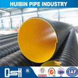 Enterré HDPE PE ondulé à double paroi avec le connecteur du tuyau de drainage