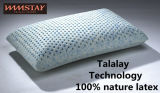 Processus Talalay Technics 100% Nature La mousse de Latex Oreiller oreiller Bamboo-Charcoal