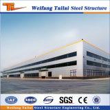 Almacén de acero acanalado galvanizado del edificio de acero prefabricado del marco de acero